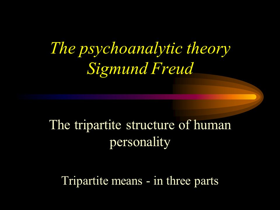 The psychoanalytic theory Sigmund Freud