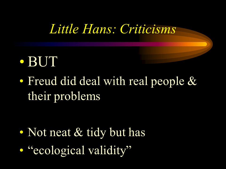 Little Hans: Criticisms