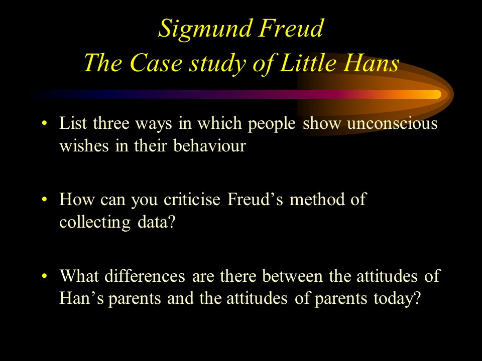 Sigmund Freud The Case study of Little Hans