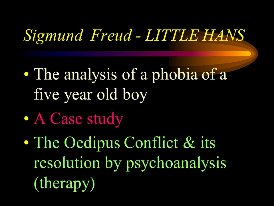Sigmund Freud - LITTLE HANS