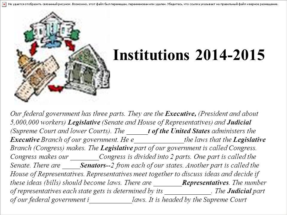 Institutions 2014-2015