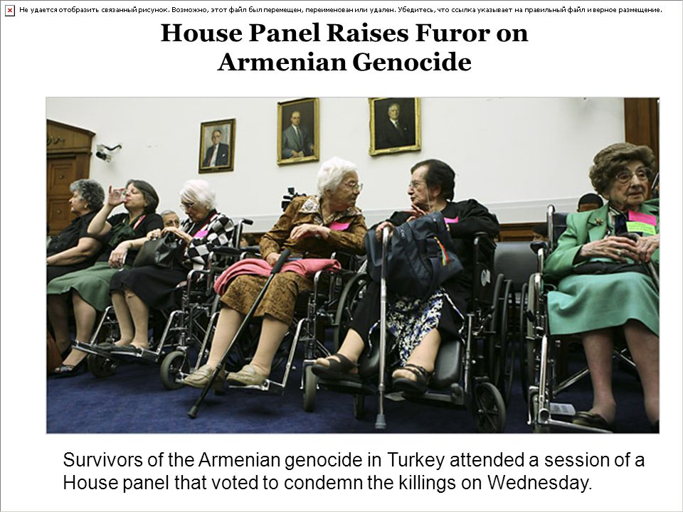 House Panel Raises Furor on Armenian Genocide