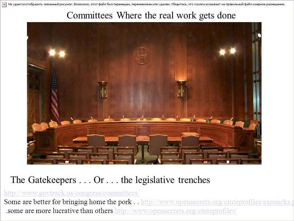 Committees Where the real work gets done