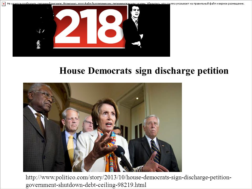 House Democrats sign discharge petition