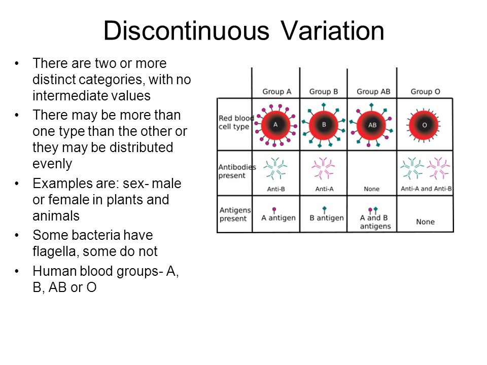 Discontinuous Variation