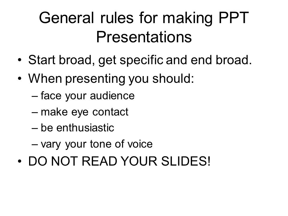 making a presentations