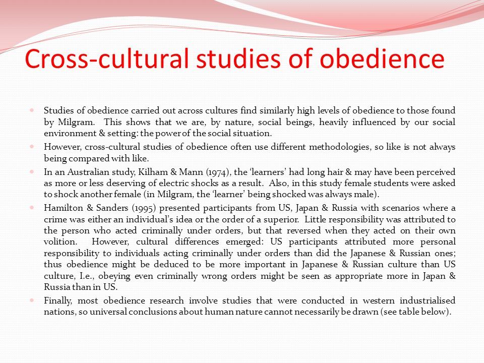 a cross-cultural study of obedience pdf
