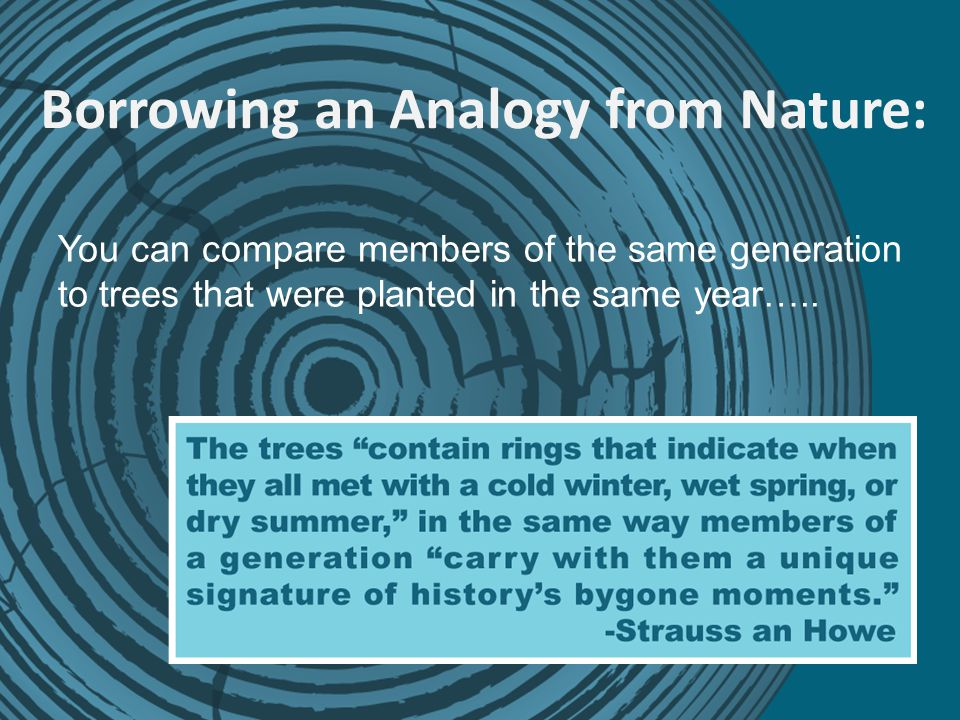 Borrowing an Analogy from Nature: