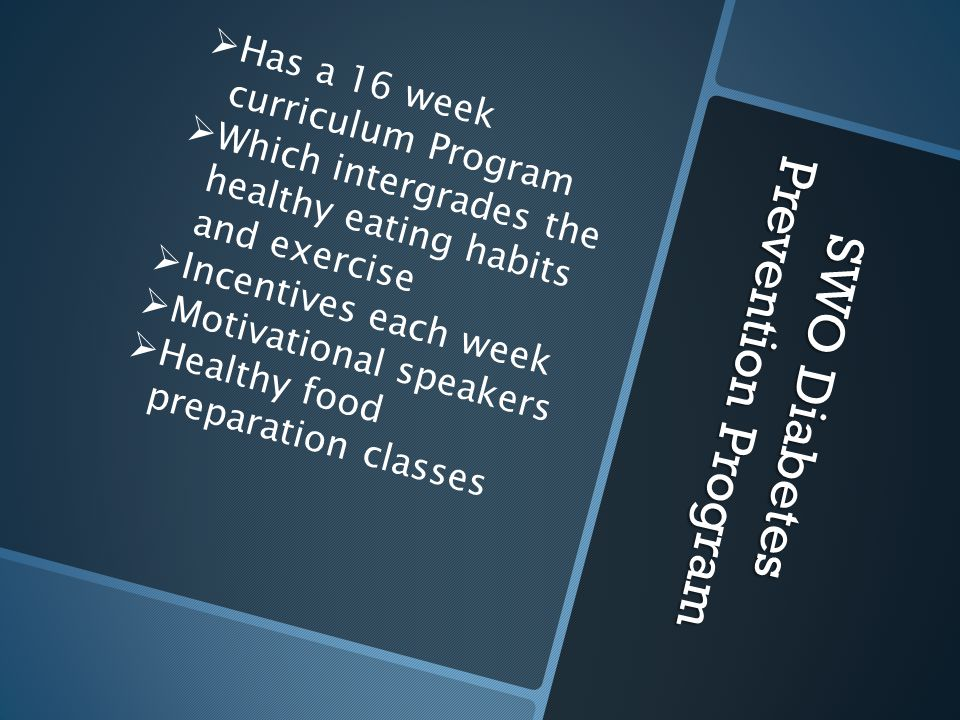 SWO Diabetes Prevention Program