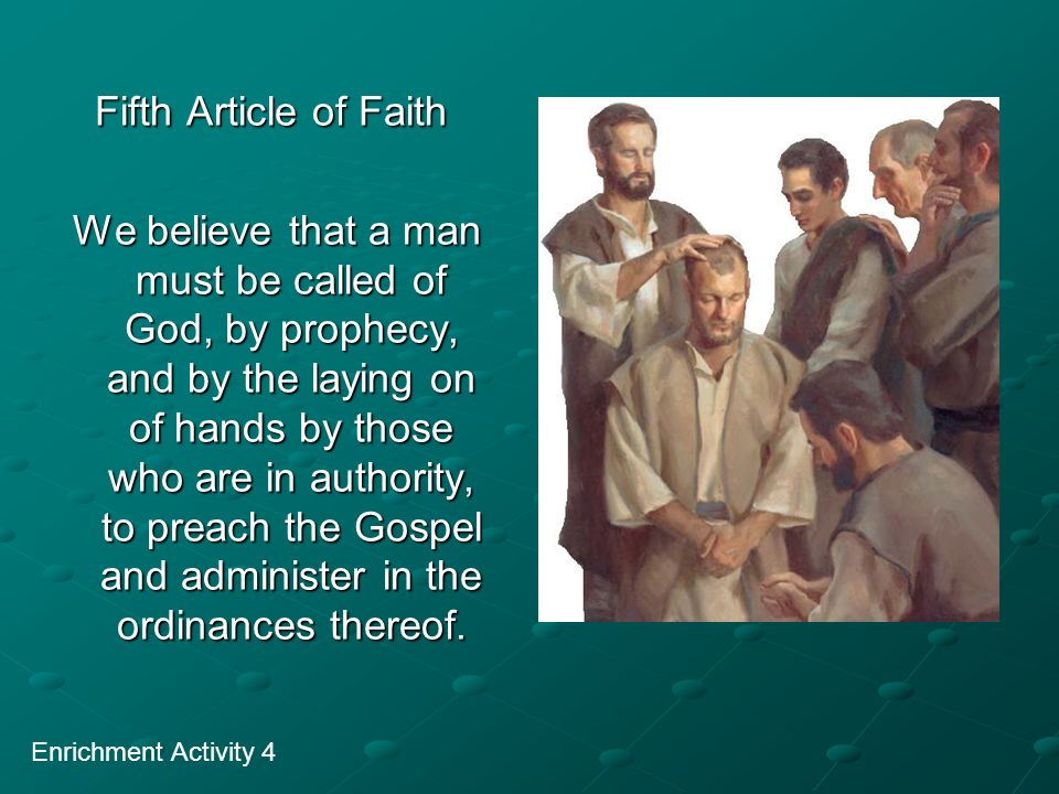 Fifth Article of Faith