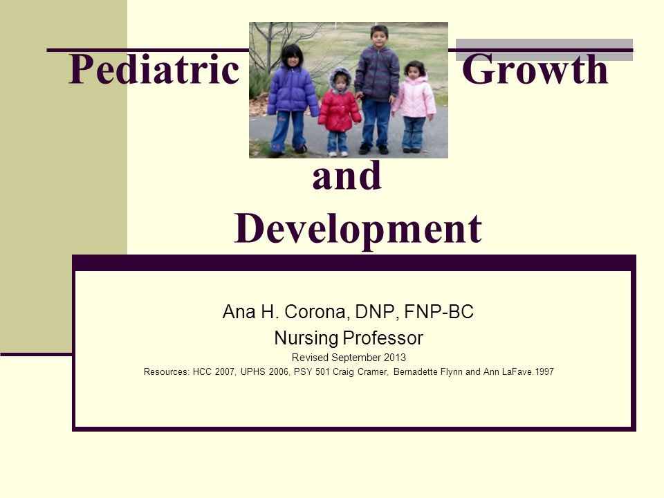 Pediatric Growth and Development