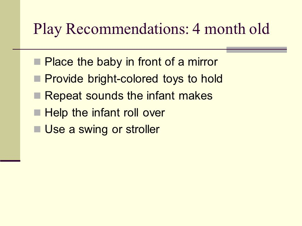 Play Recommendations: 4 month old
