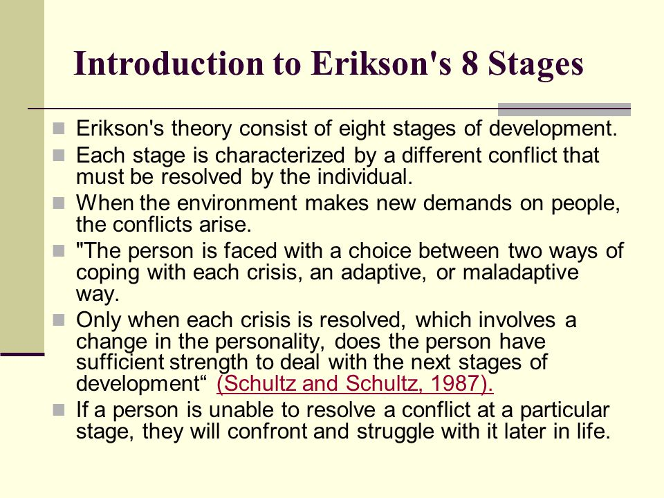 Introduction to Erikson s 8 Stages