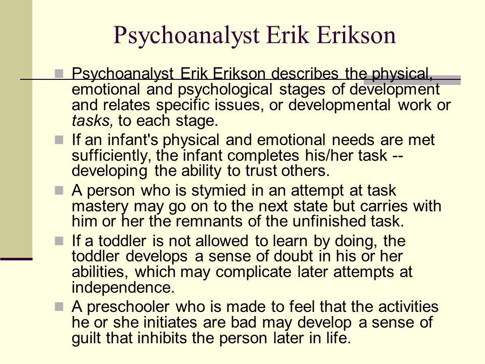 Psychoanalyst Erik Erikson