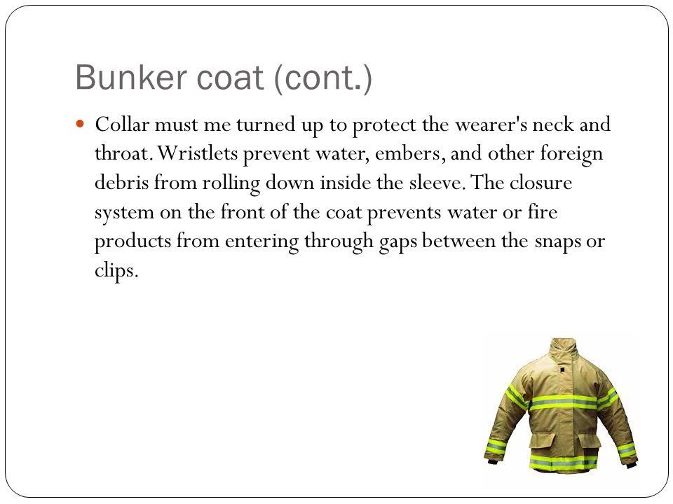 Bunker coat (cont.)