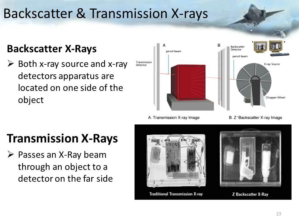 Backscatter & Transmission X-rays