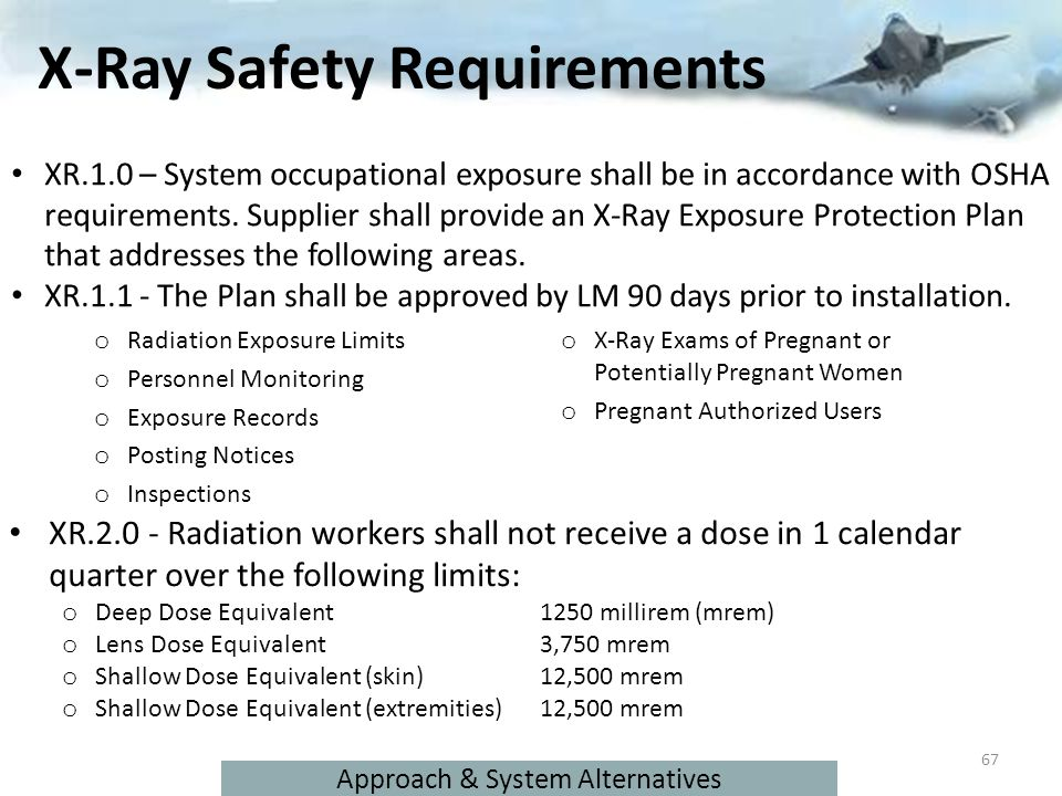 X-Ray Safety Requirements