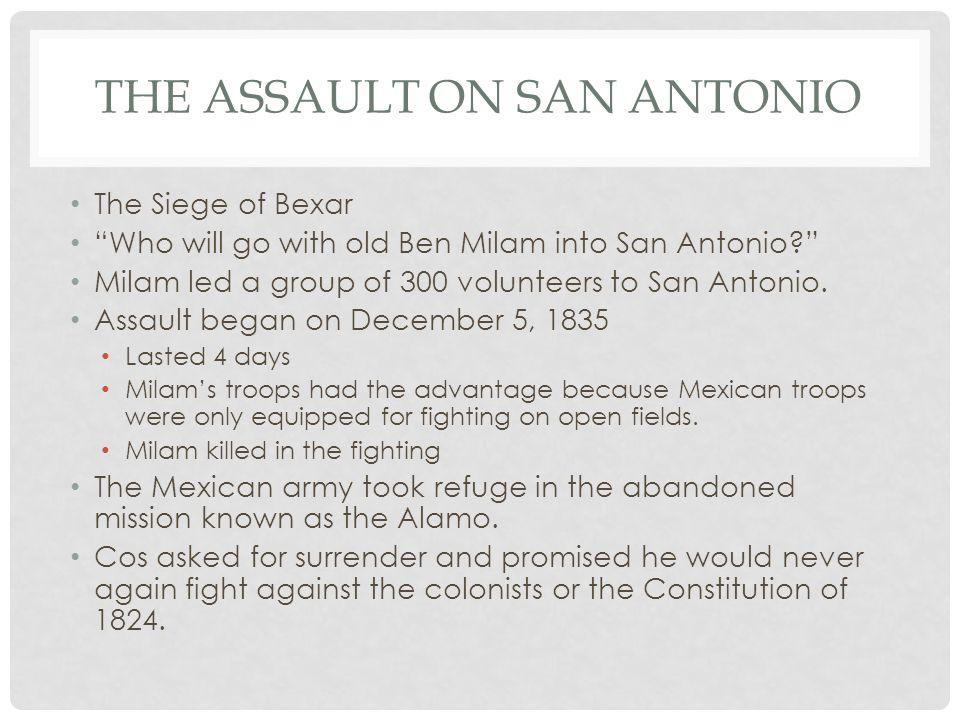 The assault on san antonio