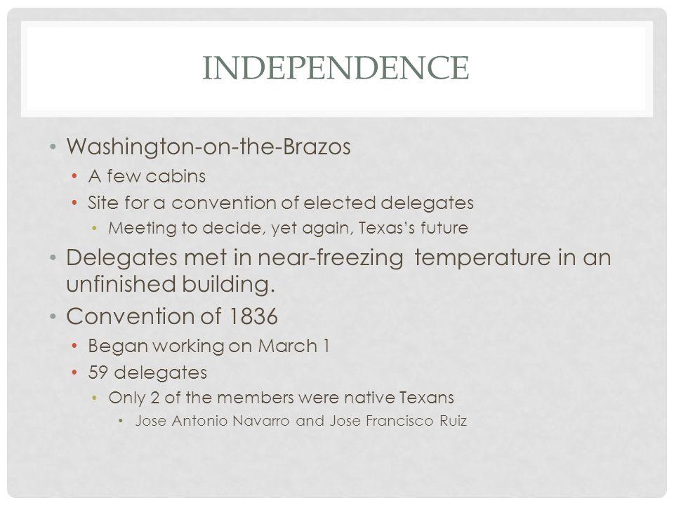 Independence Washington-on-the-Brazos