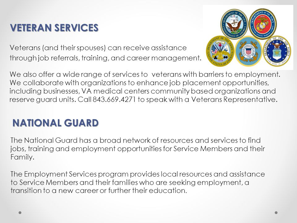 VETERAN SERVICES NATIONAL GUARD