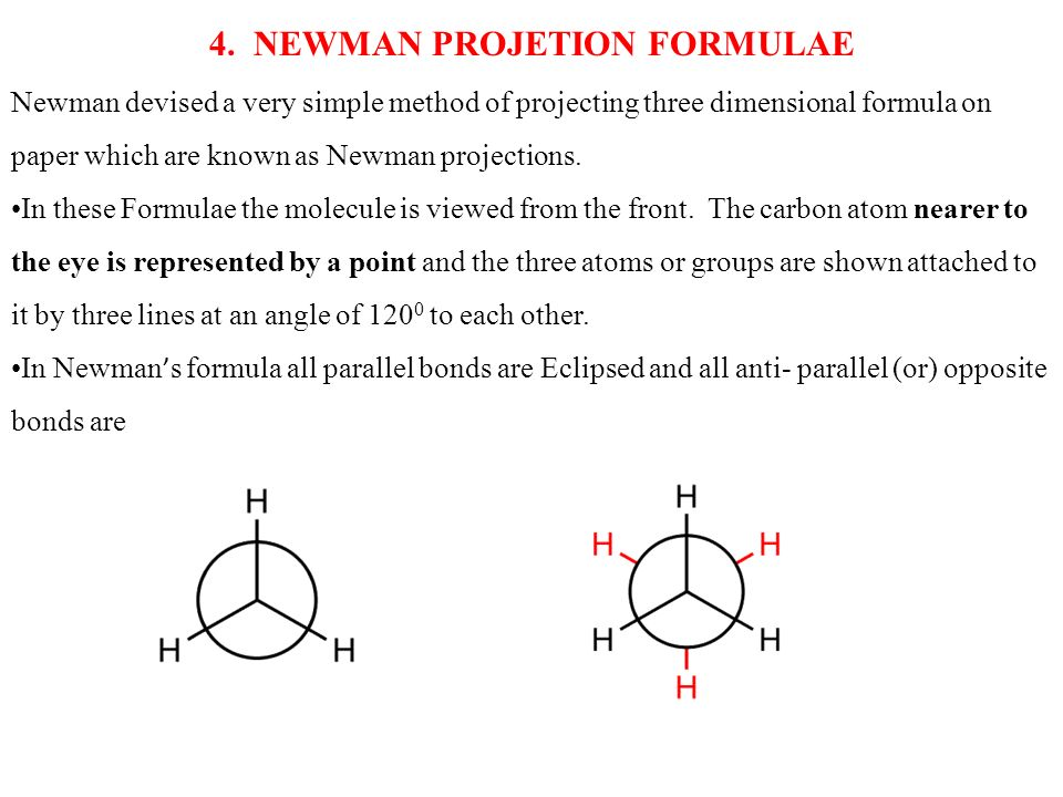 4. NEWMAN PROJETION FORMULAE