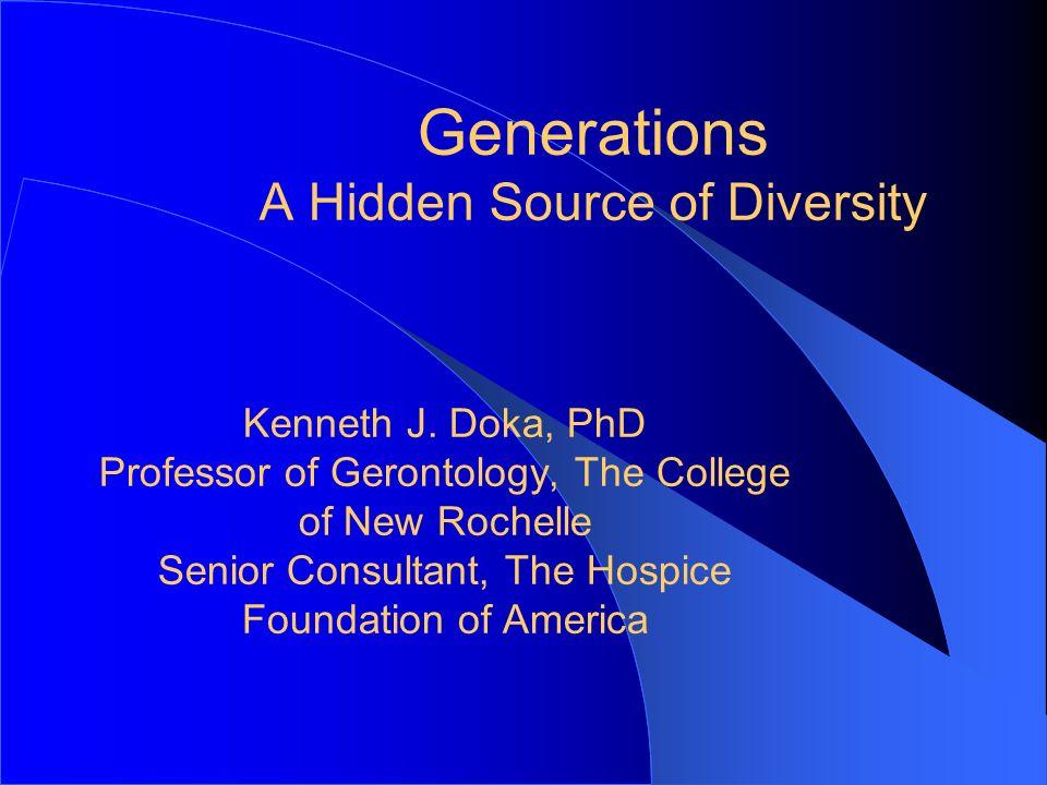 Generations A Hidden Source of Diversity