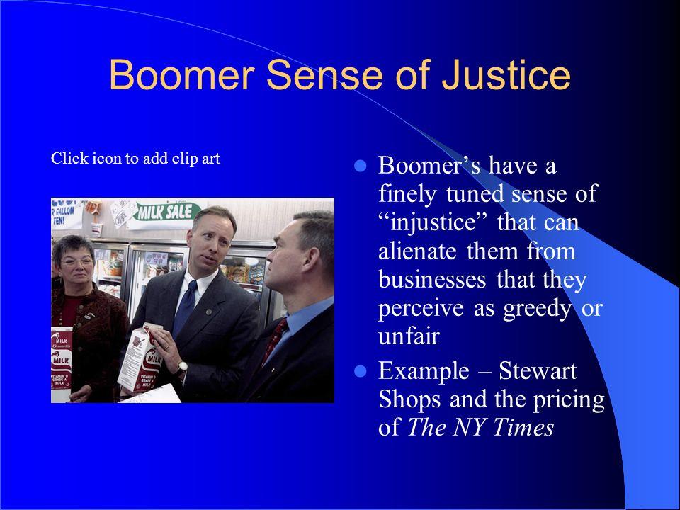 Boomer Sense of Justice
