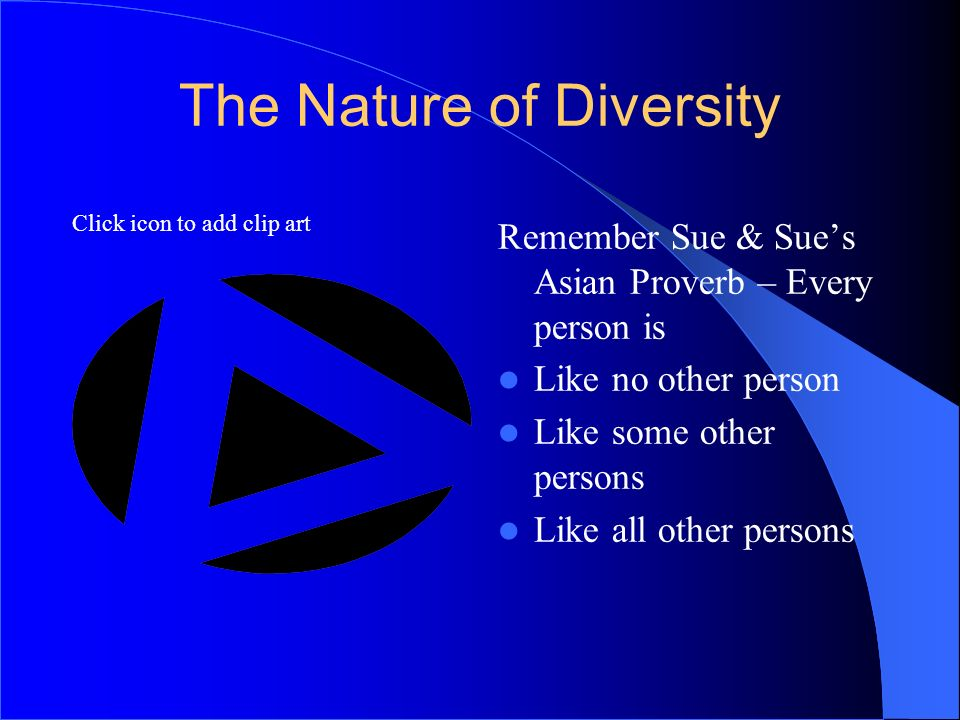 The Nature of Diversity