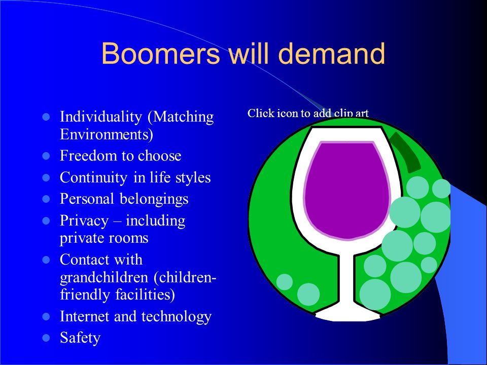 Boomers will demand 4242 Individuality (Matching Environments)
