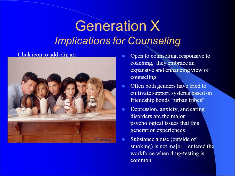 Generation X Implications for Counseling