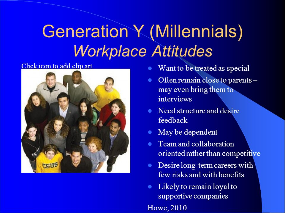 Generation Y (Millennials) Workplace Attitudes