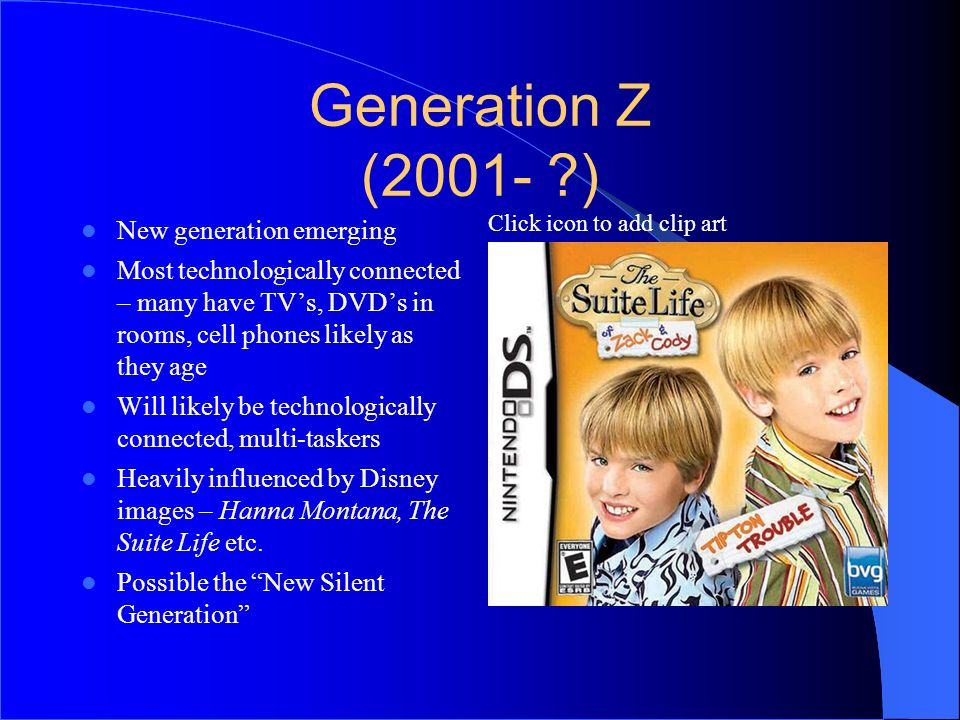 Generation Z (2001- ) 6464 New generation emerging