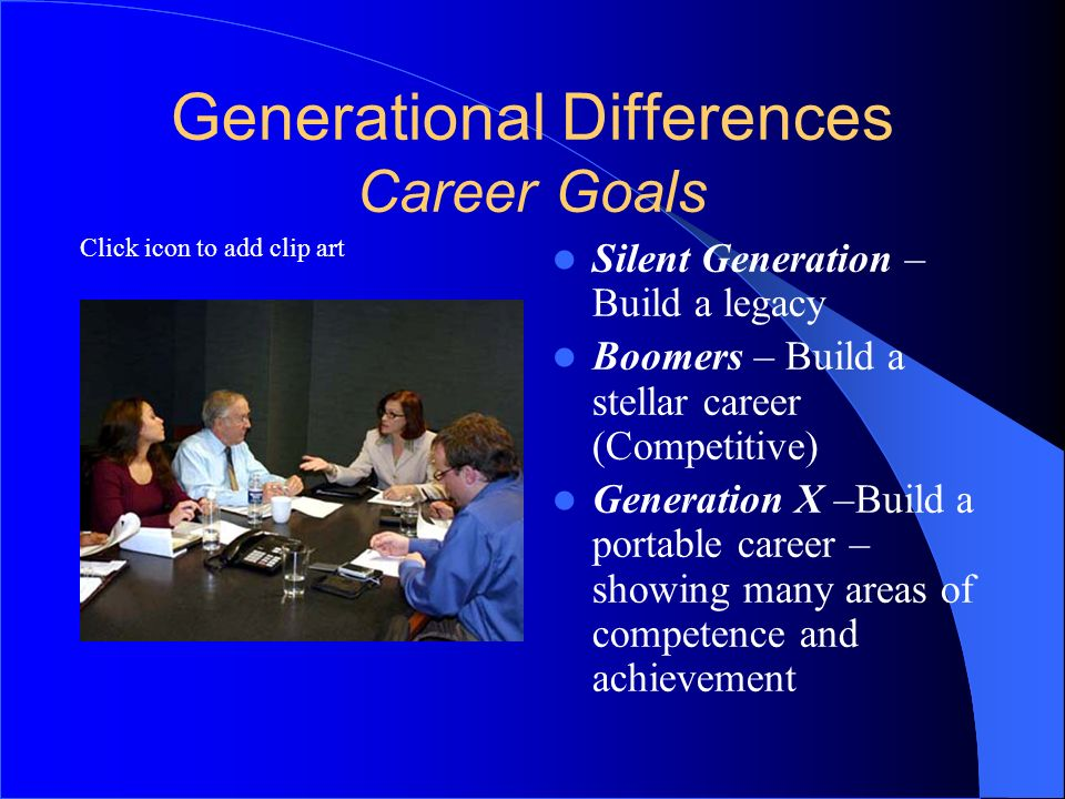 Generational Differences Career Goals