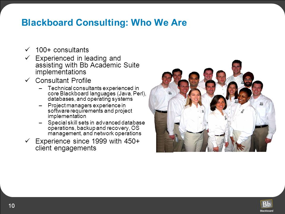 Blackboard Consulting: Who We Are