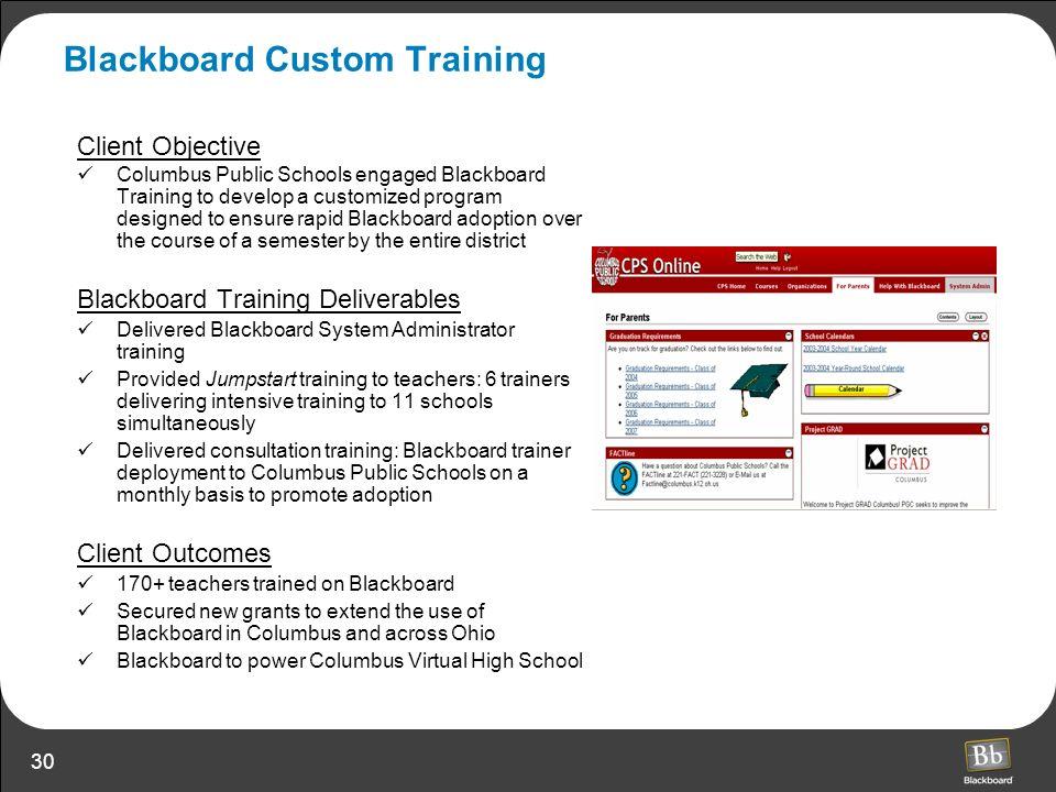 Blackboard Custom Training