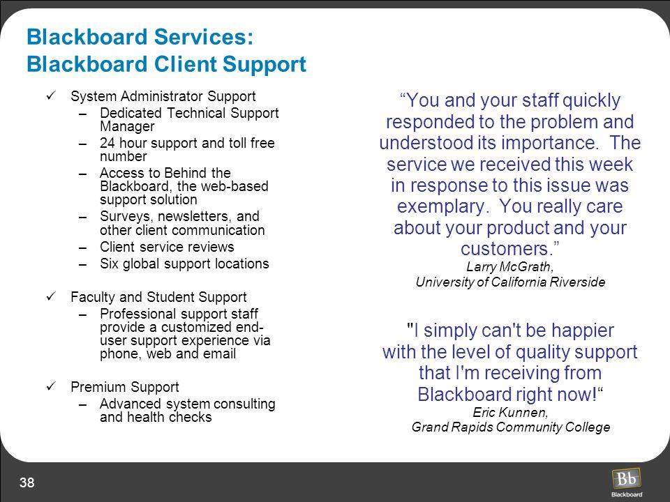 Blackboard Services: Blackboard Client Support