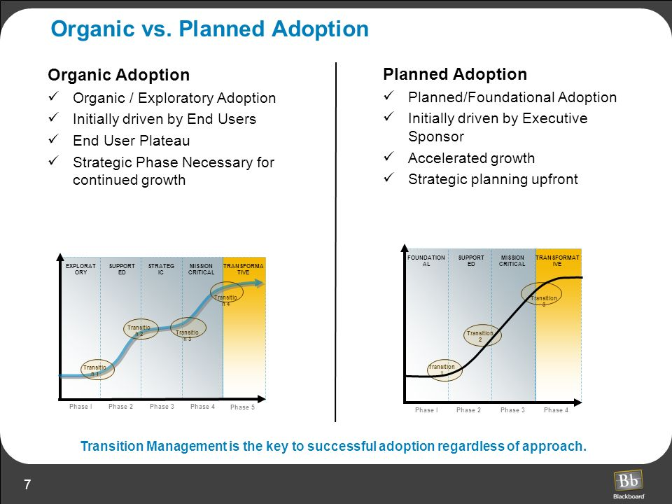Organic vs. Planned Adoption