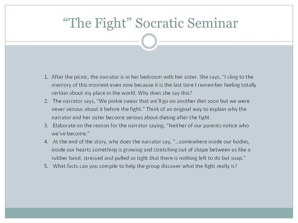 The Fight Socratic Seminar