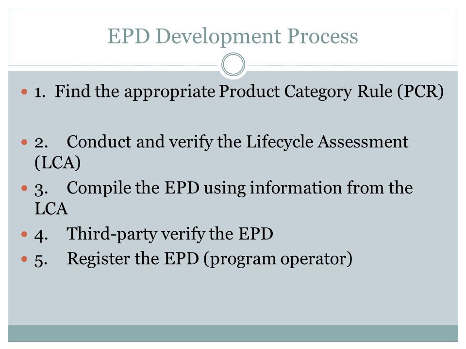EPD Development Process
