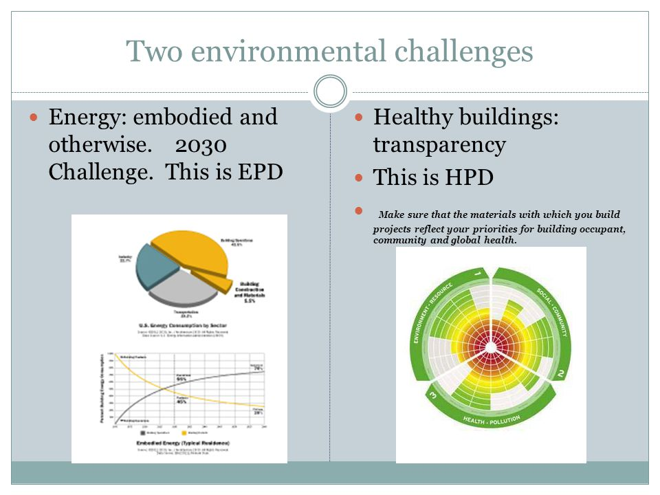 Two environmental challenges