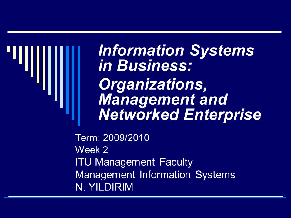 Information Systems in Business: