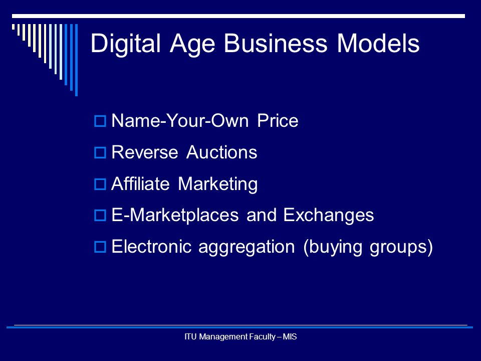 Digital Age Business Models