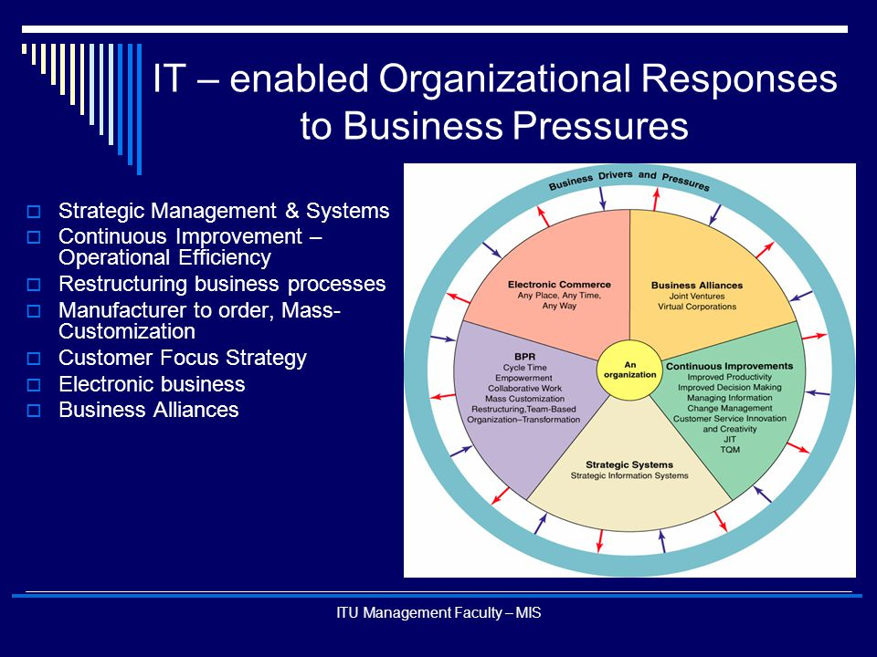 IT – enabled Organizational Responses to Business Pressures