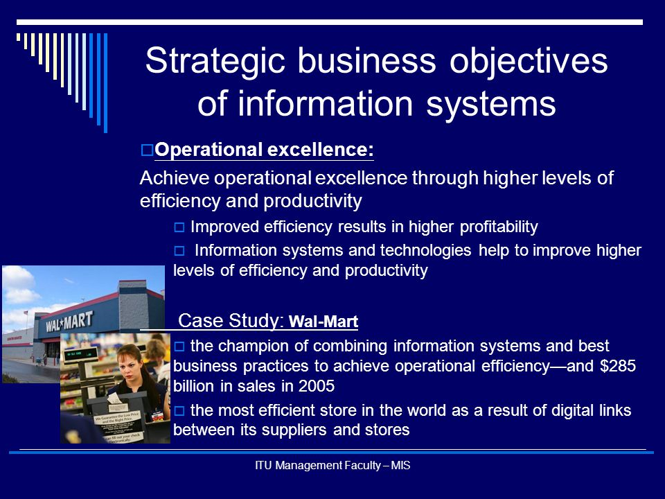 strategic information system essay Essay on management information systems one of the deficiencies of sss is its outdated information system: there also emerge tactical and strategic benefits.