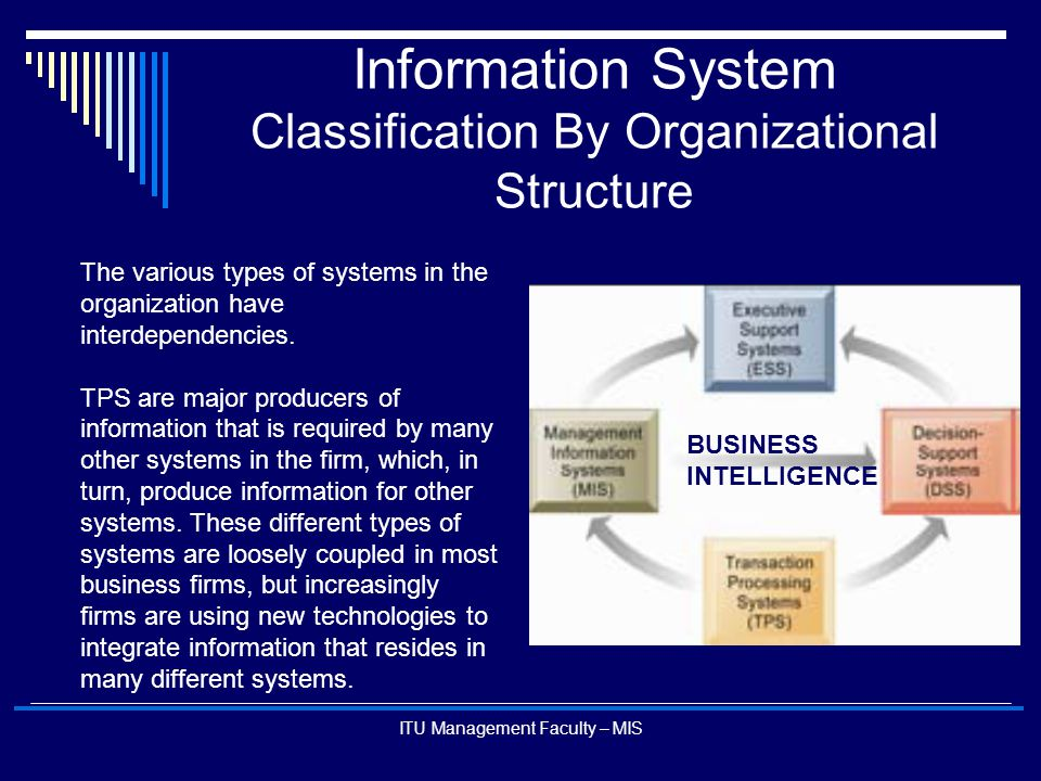 Information System Classification By Organizational Structure