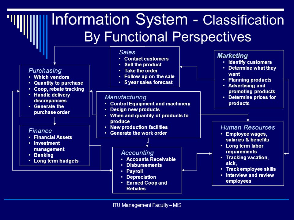 Information System - Classification By Functional Perspectives