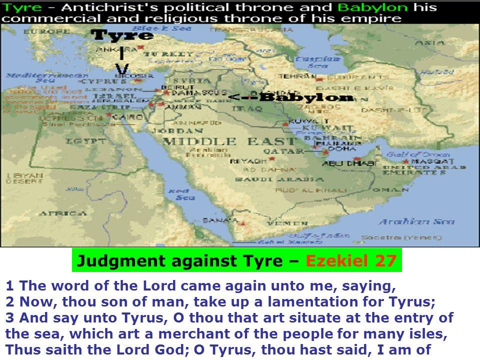 Judgment against Tyre – Ezekiel 27