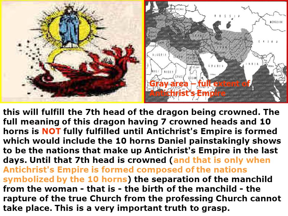 Gray area – full extent of Antichrist's Empire