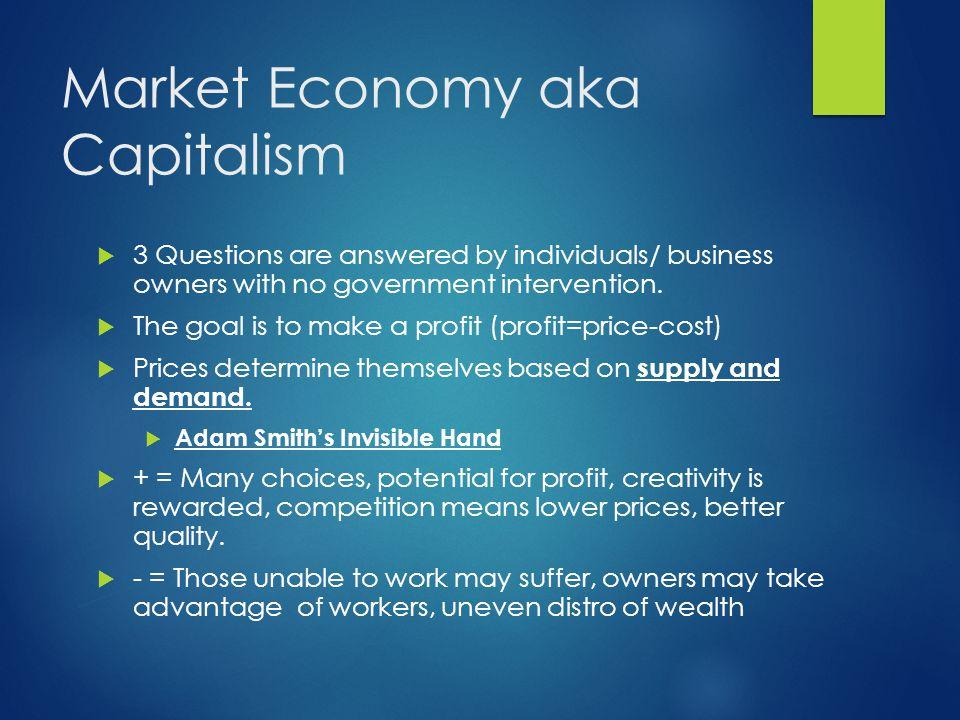 Market Economy aka Capitalism