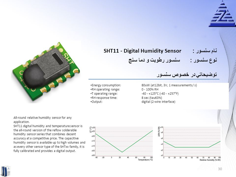 SHT11 - Digital Humidity Sensor نام سنسور :